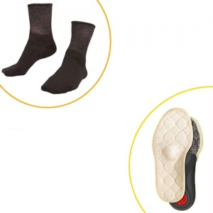 Raynaud's Disease Deluxe Silver Socks and Pedag Viva Winter Insoles Value Bundle