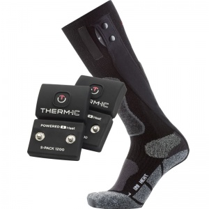 Therm-IC Powersock Uni Heat Heated Sock Set with S-Pack 1200 Battery