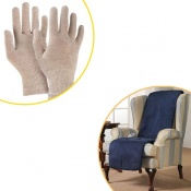 Raynaud's Disease Silver Gloves & Homeglow B-Warm Seat Cover Bundle