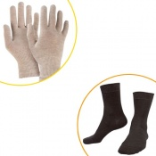Raynaud's Disease Silver Gloves & Silver Socks Bundle