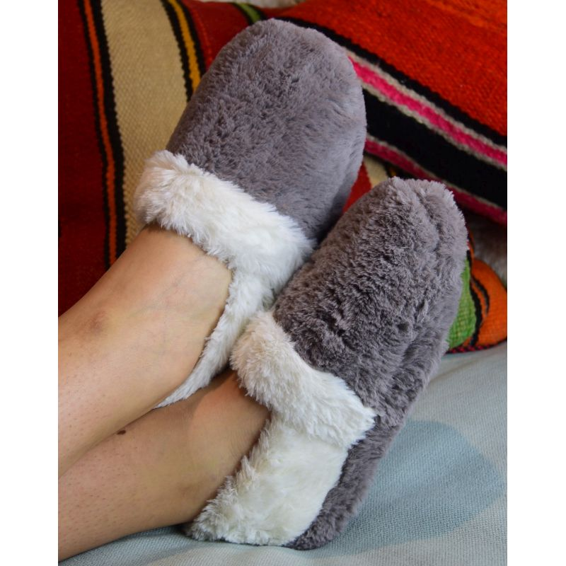 SnugToes Funmi Plush Heated Slippers