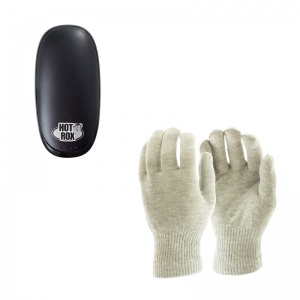 HotRox Double-Sided Electronic Hand Warmer and Raynaud's Disease Silver Gloves Bundle