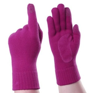 Totes Isotoner Smartouch Pink Women's Touchscreen Gloves