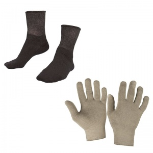 Raynaud's Disease Deluxe Silver Gloves & Deluxe Silver Socks Bundle