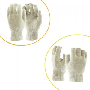 Raynaud's Disease Silver Gloves & Fingerless Silver Gloves Double Bundle