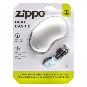 Zippo HeatBank 6 Rechargeable Hand Warmer with Blister Packaging (6 Hours)