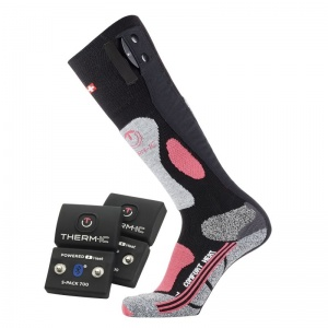 Therm-IC Powersock Comfort Heat Socks Set for Women with S-Pack 700B Bluetooth Battery