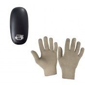 HotRox Double-Sided Electronic Hand Warmer and Raynaud's Disease Deluxe Silver Gloves Bundle