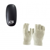HotRox Double-Sided Electronic Hand Warmer and Raynaud's Disease Fingerless Silver Gloves Bundle