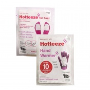 Hotteeze Hand Warmer and Hotteeze for Feet Instant Heat Bundle