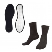 Raynaud's Disease Silver Socks and Woly Alu Fleece Insoles Value Bundle