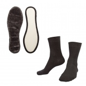 Raynaud's Disease Deluxe Silver Socks and Woly Exquisit Insoles Value Bundle