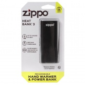 Zippo HeatBank 3 Rechargeable Hand Warmer with Blister Packaging (3 Hours)
